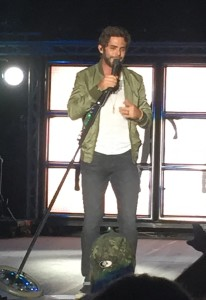 Thomas Rhett performing live at WCOL Country Jam '15