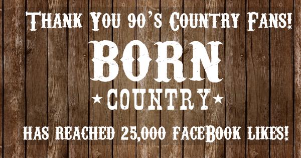 BORN Country Reaches 25,000 Facebook Fans!
