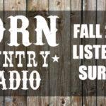BORN Country Radio Listener Survey #1